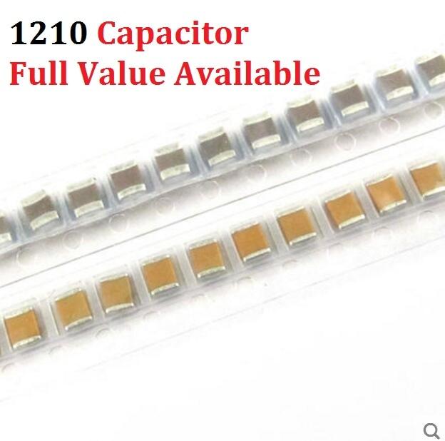 50PC 1210 SMD Capacitor 100NF 470NF 680NF 1UF 50V 2.2UF 4.7UF 10UF 22UF 47UF 100UF 104 474 684 105 225 475 106 226 476 107 0.1uf