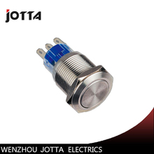 цена на GQ19F-11Z 19mm 1NO 1NC Latching metal push button switch with flat round