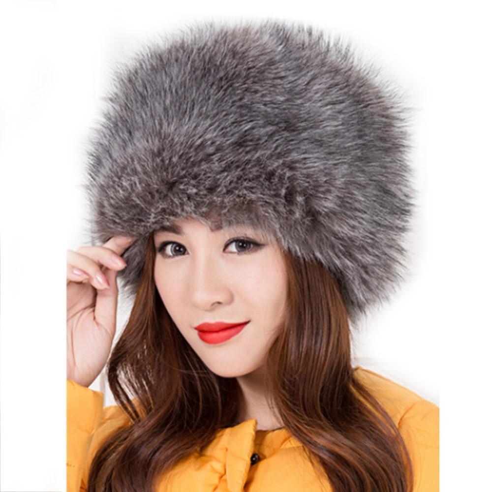 invierno cosaco Fox estilo Wisstt Faux mujer moda Fur señora ruso qxOSgz