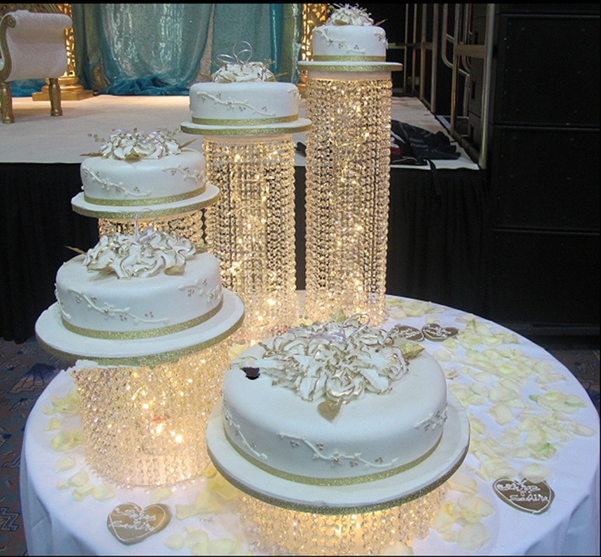 Cake Decorating Supplies 2019 Gold Luxury Crystal Wedding Tall Cake Centerpieces Display Stand Holder Fondant Macaron Cupcake Cake Decorating Candybar Latest Technology Event & Party