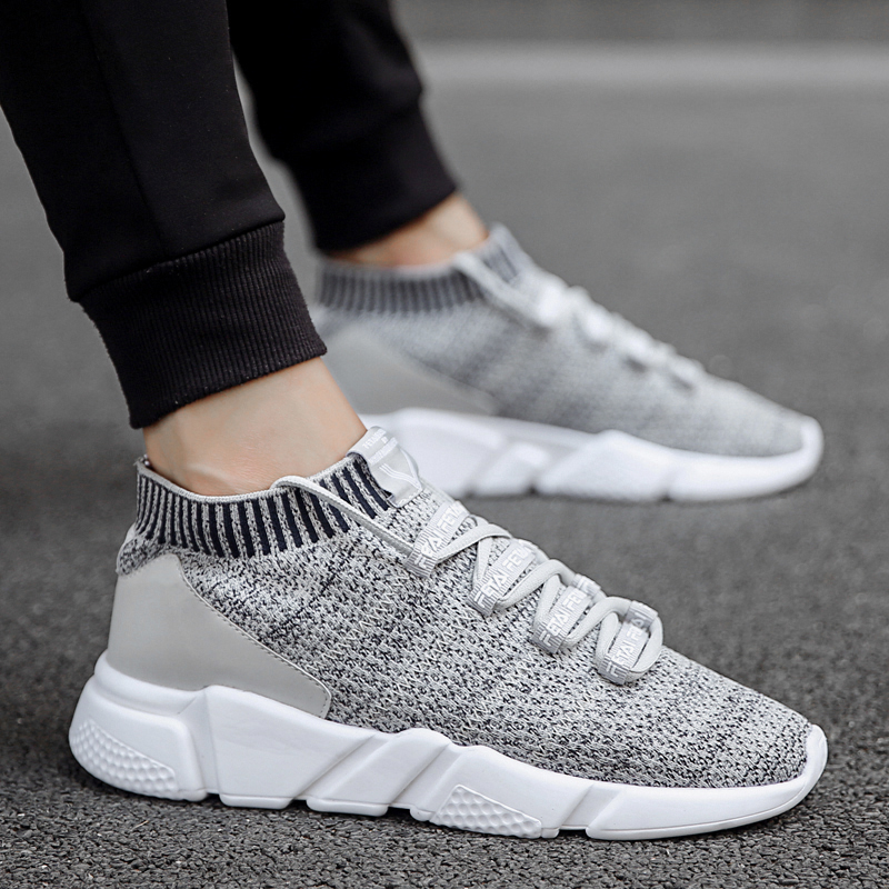 WINDRIDERISM Flyknit Breathable Men Sneakers New Fashion Comfortable Casual Sock Shoes Spring Autumn Zapatillas Deporte