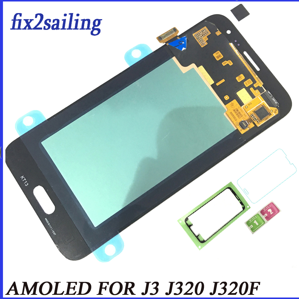 Super AMOLED For Samsung Galaxy J3 2016 J320 J320F J320FN LCD Display Touch Screen Digitizer Assembly Replacement Tested GiftSuper AMOLED For Samsung Galaxy J3 2016 J320 J320F J320FN LCD Display Touch Screen Digitizer Assembly Replacement Tested Gift
