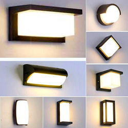 Wodoodporna zewnętrzna lampa ścienna nowoczesne LED wall światło wewnętrzne kinkiety oświetlenie dekoracyjne ogród oświetlenie ganku IP65 lampy ścienne w Zewnętrzne kinkiety LED od Lampy i oświetlenie na