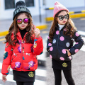 girls wadded jacket flowers owl child cotton-padded jacket child cotton-padded jacket baby girl outerwear girls winter coat