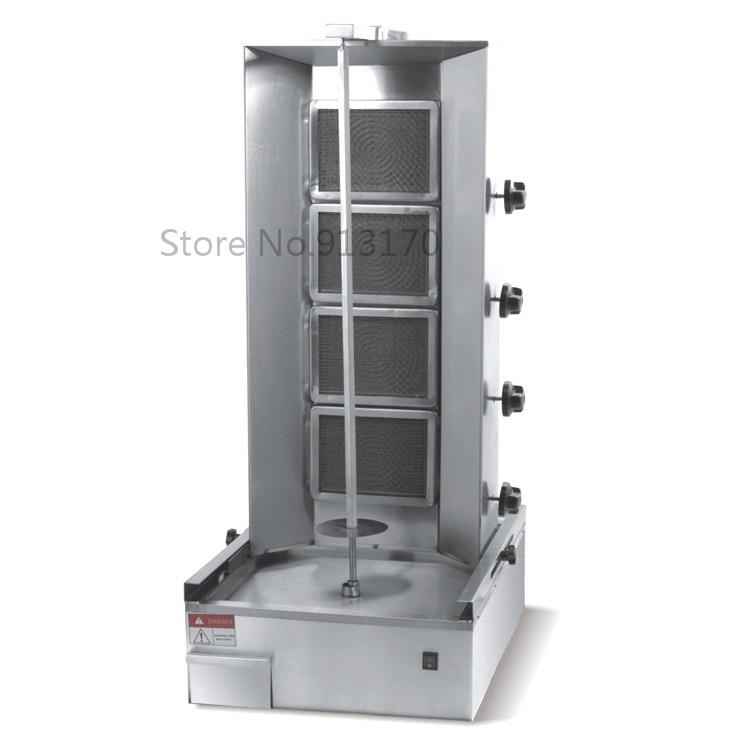 Gas Turkish Kebab Machine_Gas vertical broiler with 4 Levels_Shearman Kebab Machine good used electric gas lpg kebab machine turkish bbq grill gas shawarma making machine