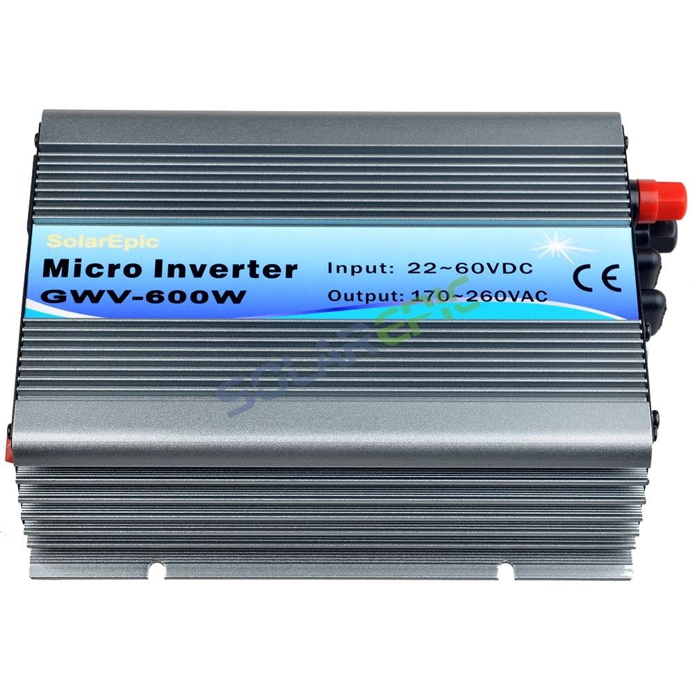 MPPT Grid Tie Inverter DC22-60V to AC110V or 220V Pure Sine Wave Inverter Use For 24V/36V Solar Panel 50Hz/60Hz CE