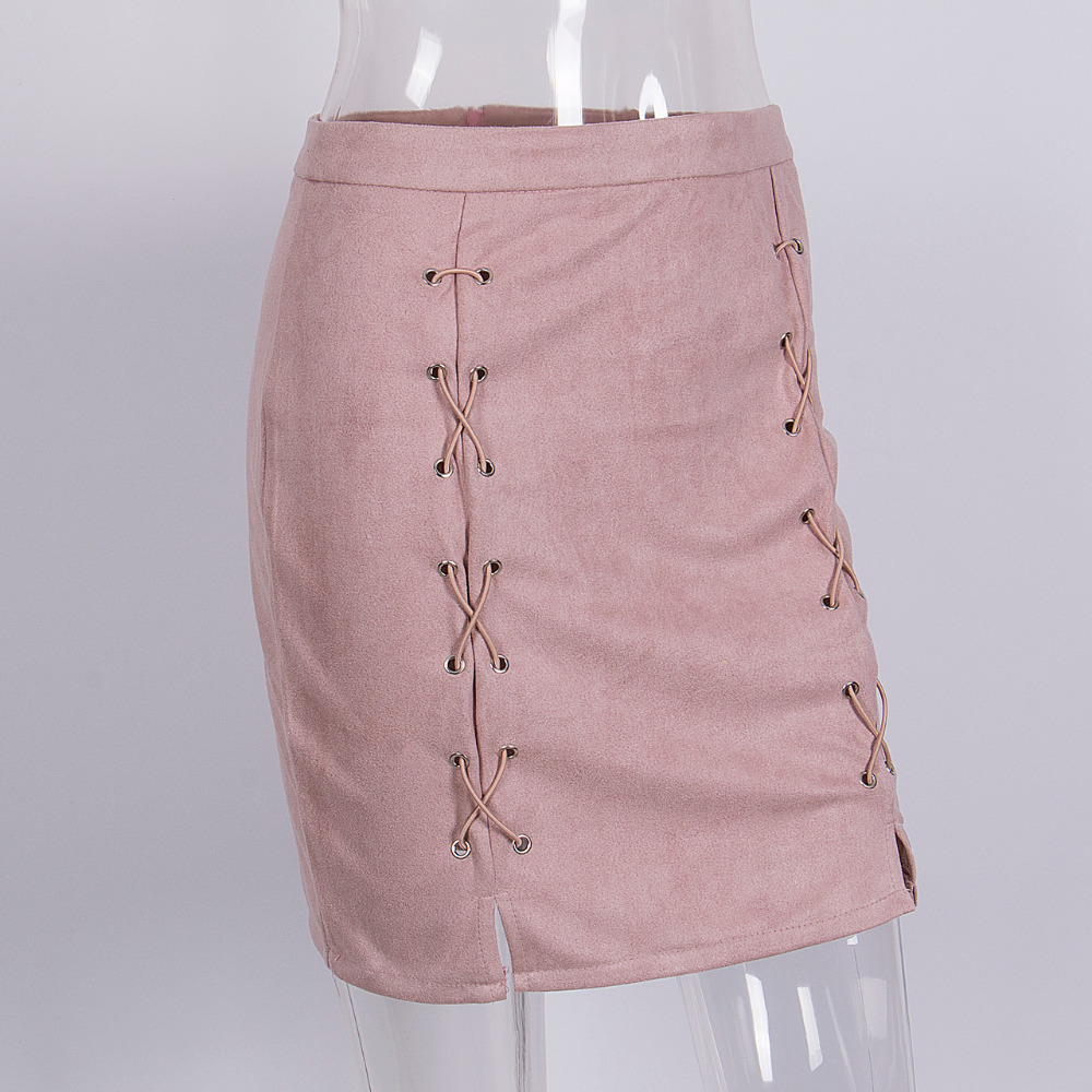 HTB1.mPlogoQMeJjy0Fnq6z8gFXa5 - FREE SHIPPING Autumn winter lace up leather suede pencil skirt JKP298