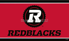 Ottawa REDBLACKS Flag 3×5 FT  Banner 100D Polyester CFL flag 1507, free shipping