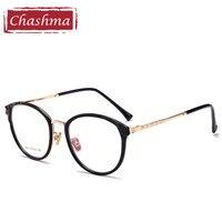 Chashma Brand Vintage Women Optical Frames Transparent Lenses TR90 Cute Eyeglasses Round Glasses Frame Retro