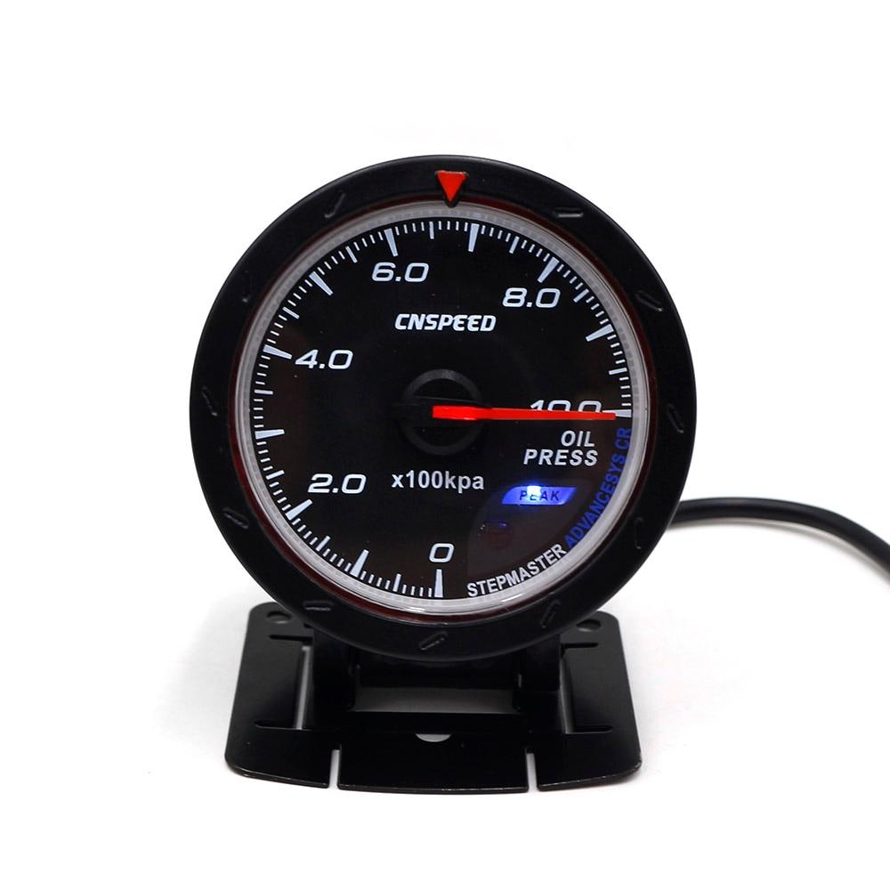 medium resolution of cnspeed 60mm car oil pressure gauge 0 10 bar oil press meter with sensor red white lighting gauge car meter ms101166 in oil pressure gauges from