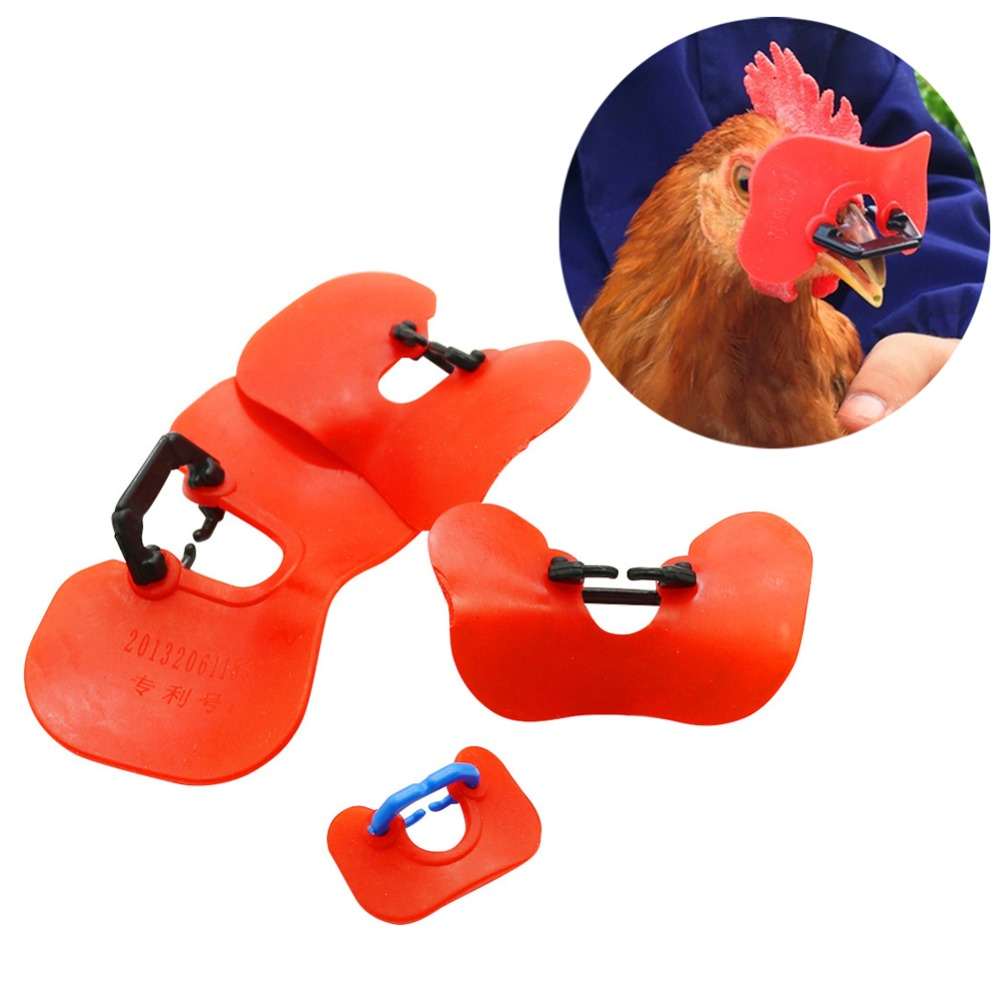 1000Pcs Chicken Pinless Poultry Glasses Laying Hens Blinders Spectacles Tool