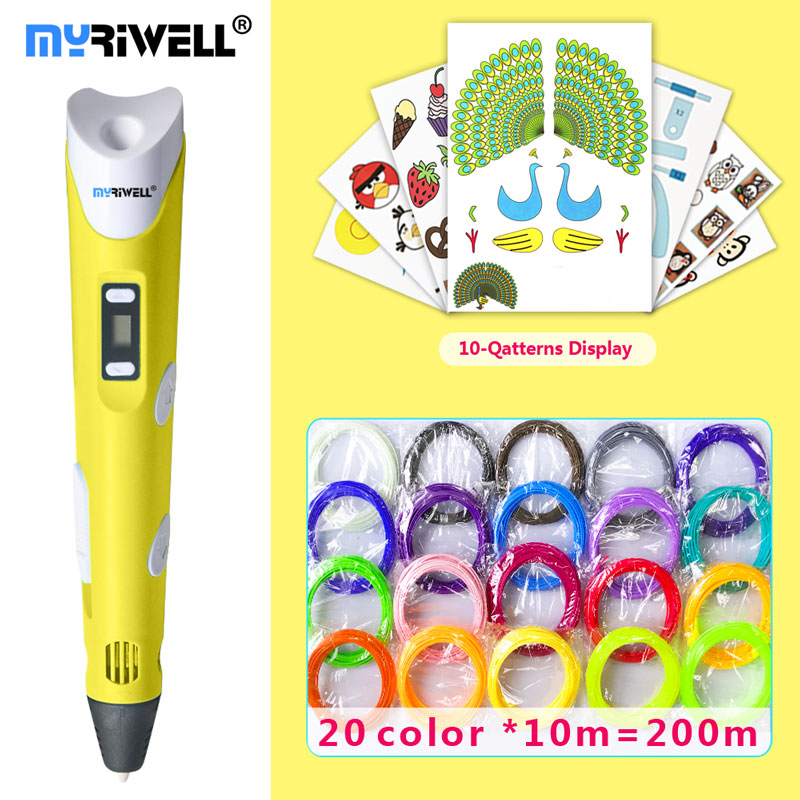 Myriwell Pen 3d-Pen Led-Display Best-Gift Filament Pen3d-Model ABS/PLA  title=
