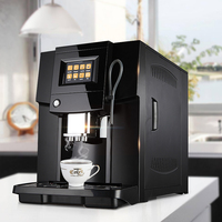 Commerical Fully Automatic coffee machine LCD espresso coffee machine & coffee grinder 19 bar cappuccino maker 220v 1250w