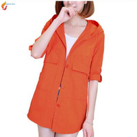 Sun Protection Clothing Coat 2017 Summer Fashion Hooded Women Coat Large Size Thin Section Sun Protection