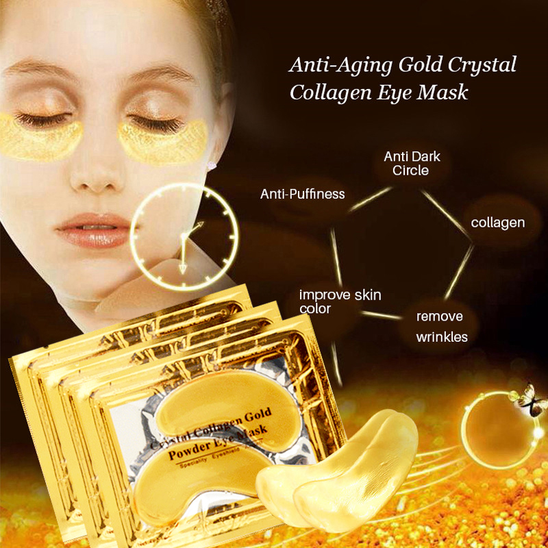 InniCare 20Pcs Crystal Collagen Gold Eye Mask Anti-Aging Dark Circles Acne Beauty Patches For Eye Skin Care Korean Cosmetics 1