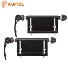 Partol Универсальный черный сплав велосипедный блок быстросъемная Вилка Крепление для звукоснимателя монтируется вертикально или горизонтально