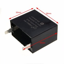 1pc Black CBB61 Capacitor 24uF 24MFD 450VAC Fits 400/350/300/250VAC UL/RU Electric Capacitor for Brushless Gas Generators Mayitr