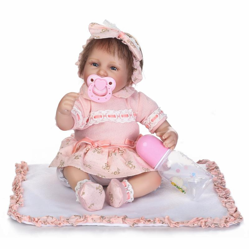 NPKCOLLECTION 40cm Silicone reborn baby doll toy realistic birthday gift for kid child lovely princess newborn girls babies doll 40cm silicone reborn baby doll toy for girls realistic newborn princess babies dolls lifelike lovely kid child birthday present