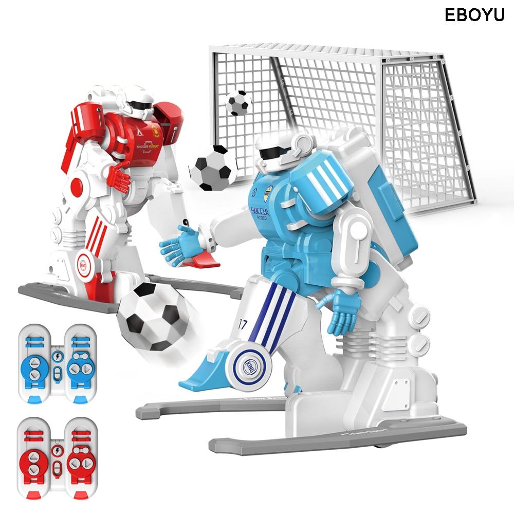2pcs * EBOYU 1902B 2.4GHz RC Football Robot Toy Fun Sport Ball Games Two RC Soccer Robots Toys for Kids RC Robot
