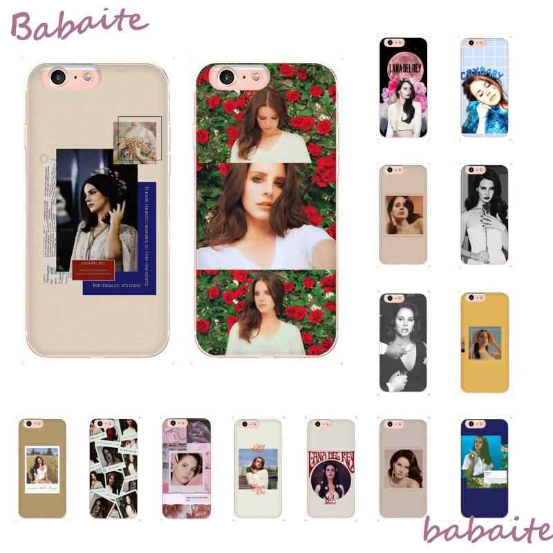 Babaite lana del rey beautiful girl DIY Printing Phone Case for iPhoneX XS MAX 6 6S 7 7plus 8 8Plus 5 5S XR 10 11 11pro 11promax