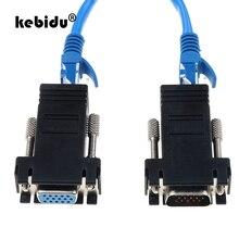 Kebidu 2 шт. RJ45 для мини VGA удлинитель Шнур Мужской Женский для Lan Cat5 Cat5e RJ45 Ethernet адаптер для ПК ноутбука