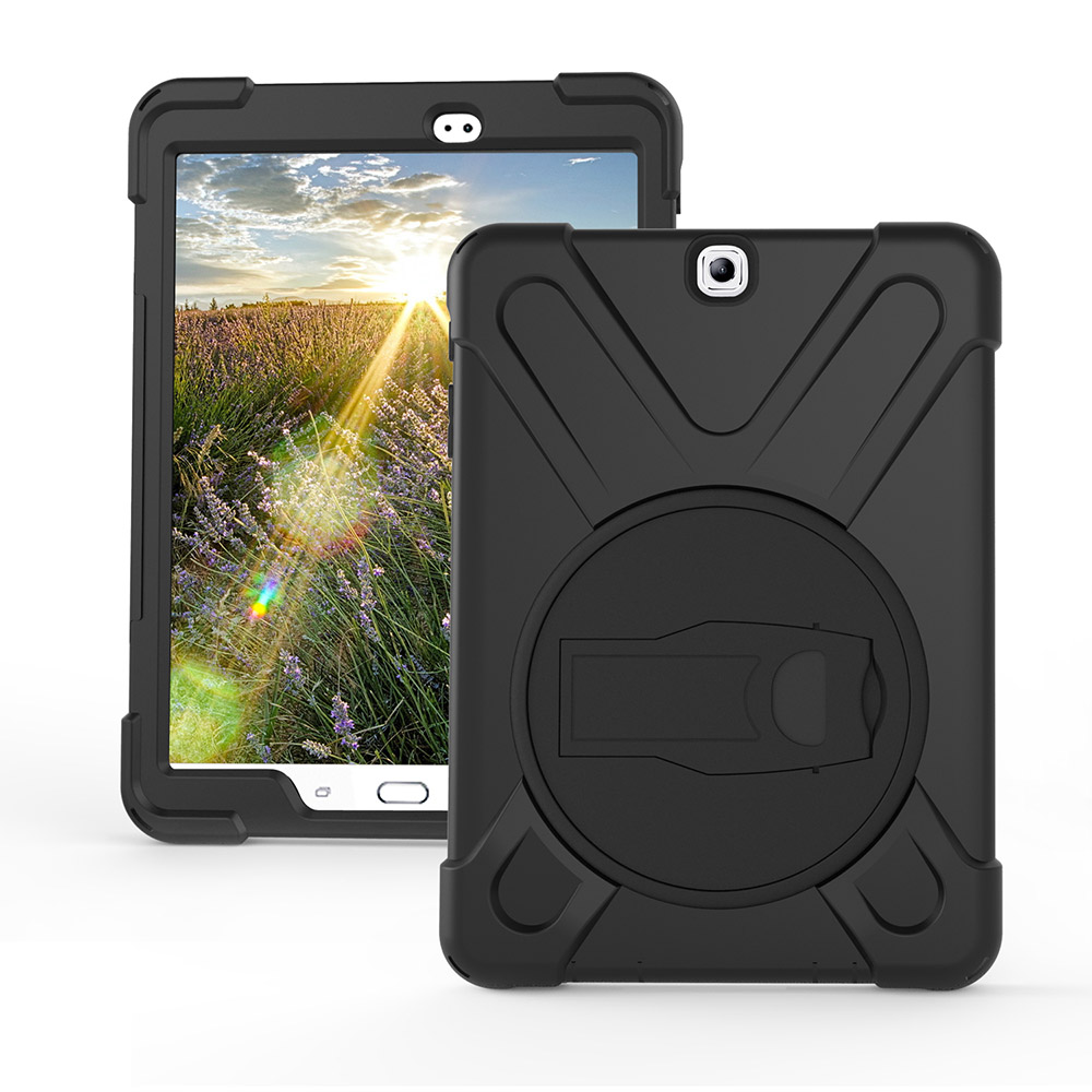 Case Cover For Samsung Galaxy Tab S2 8.0 (2015 Release),Rugged Hybrid Protective Cover with 360 Degree Rotatable Kickstand Black tt tf ths 02b hybrid style black ver convoy asia exclusive