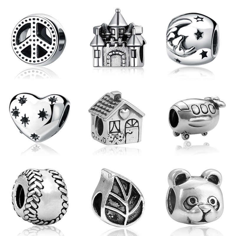 1pc bisuteria fit  kids beads jewelry bijoux bracciale french bead silver perfumes mujer originales  bracelet charms