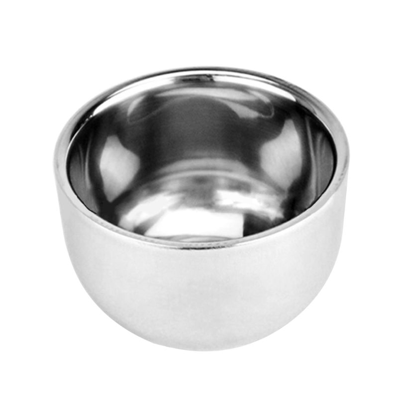 Men Double Layer Stainless Steel Cup Thicken Durable Shave Soap Bowl Heat Insulation Smooth Shaving Mug Wine Alcohol Tea Cup