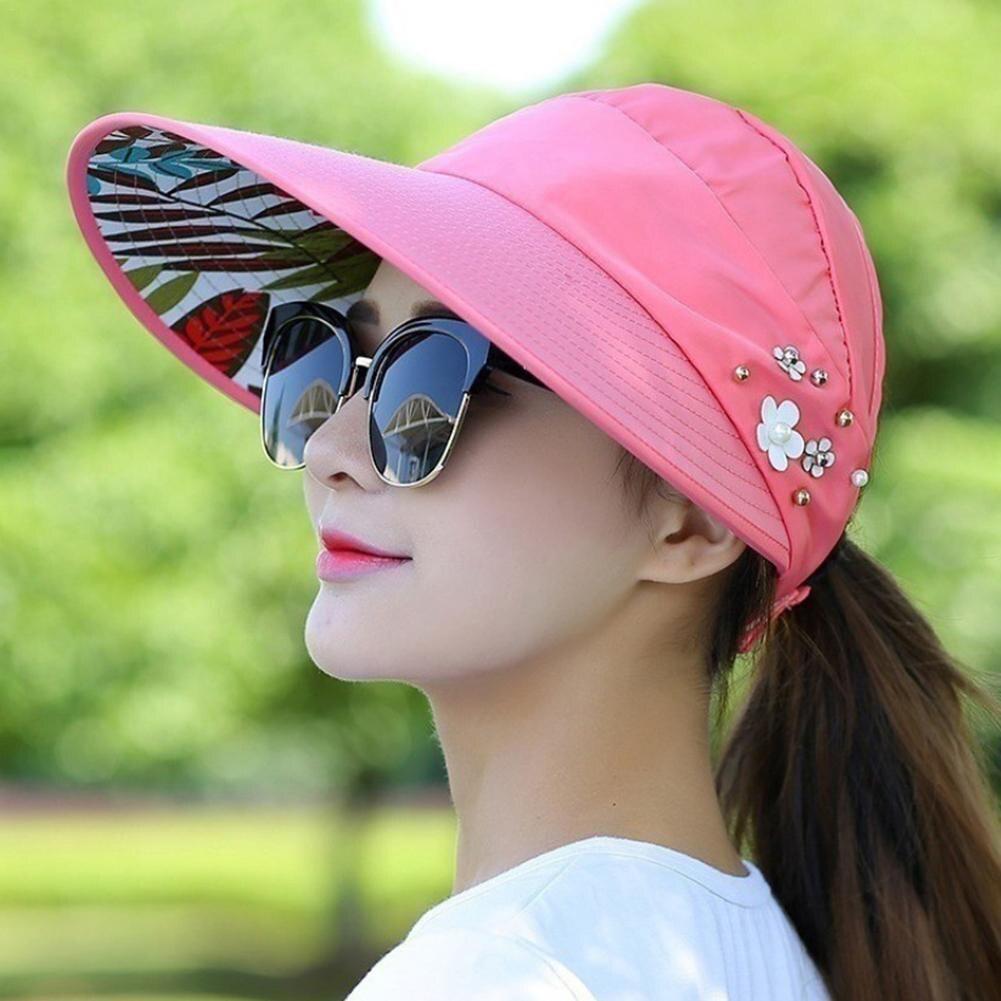 Dropwow Men Women Sport Running Caps Adjustable Outdoor Visor Cap ... 4913d4c36d5a