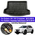 Alfombrilla trasera para maletero, alfombra para suelo, alfombrilla de bandeja para Subaru 15/15 Crosstrek/Impreza, puerta trasera, 2012-2014, 2015 2016