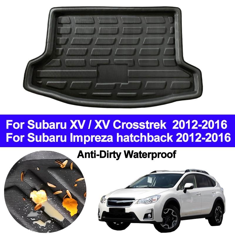 Car Rear Boot Cargo Liner Trunk Floor Carpets Tray Pad Mat For Subaru XV/ XV Crosstrek / Impreza Hatchback 2012 - 2014 2015 2016