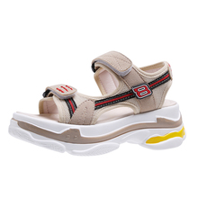 YeddaMavis Women Sandals Wedges Shoes High Heels Summer New Beach Mesh Casual Roman Platform Woman