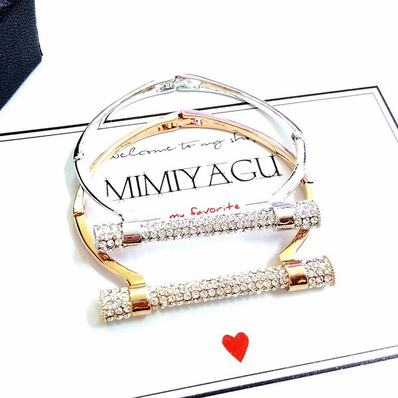 Rrathë të famshëm luksoz të plotë me manshetë me kifllo - Bizhuteri të modës - Foto 3