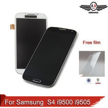 For Samsung Galaxy S4 i9500 i9505 LCD Display Touch Screen with frame+tool+cable,free shipping