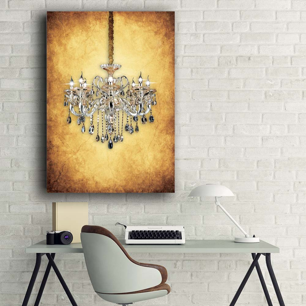 Led wall picture Retro gleaming crystal chandelie with gemstone ...