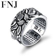 f574b3e7a7d8 925 Lotus plata anillos buena suerte Buda tamaño ajustable de moda Popular  S925 sólido tailandés anillo de plata para las mujere.