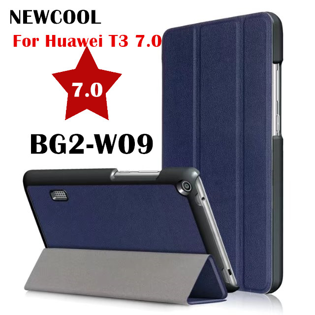 T3 7.0 KST Magnet Smart Leather Case Flip Cover for Huawei MediaPad T3 7.0 BG2-W09 7.0 Tablet Case Protective Shell SKins