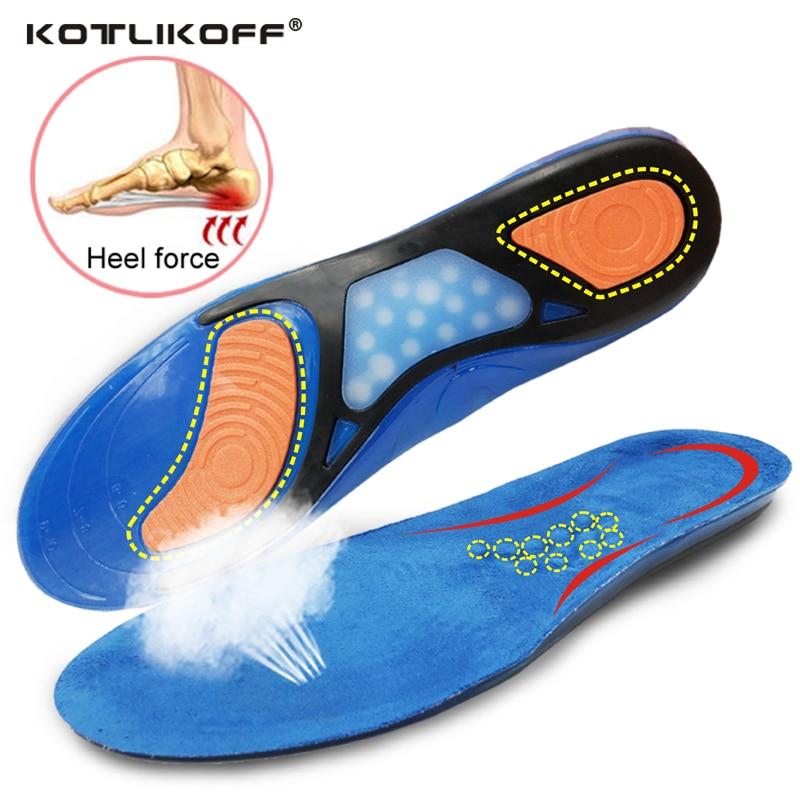 KOTLIKOFF plantillas de Gel de silicona zapatos almohadillas para fascitis Plantar en vivomed tacón deporte plantillas de absorción de choque de suelas insertar