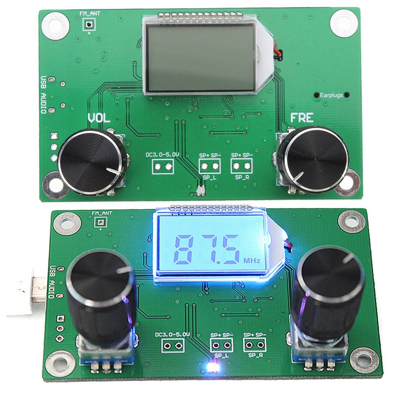 NOUVEAU DSP PLL Numérique Stéréo FM Radio Module Récepteur 87-108 MHz Avec Contrôle Série Gamme De Fréquence 50Hz-18 KHz