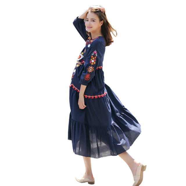 1f82e1783bd Maternity clothes 2017 fashion emperament high-end embroidery long dresses  pregnancy clothes for Pregnant Women clothes