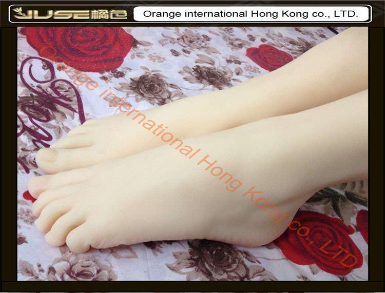 Top Quality New <font><b>Sex</b></font> Product,Soft Feet Fetish Toys for Man,Lifelike Female Feet Mannequin,Fake Feet Model for Sock Show,FT-3600-1 image