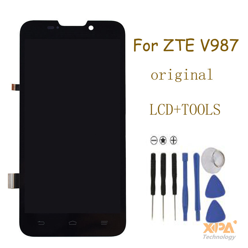NEW FOR ZTE V987 Grand X Quad LCD Display + digitizer touch Screen Glass Assemblely free shipping