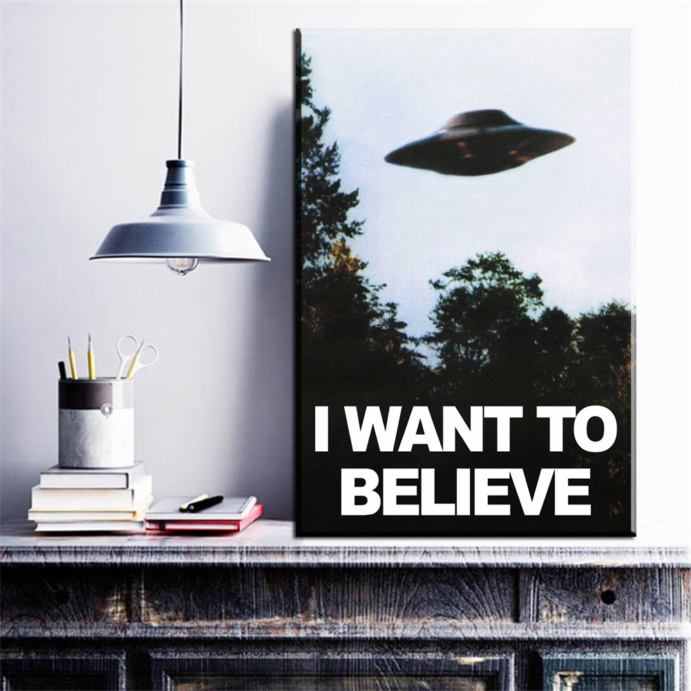 ZZ1633 Vintage Classic Movie The Poster I Want To Believe