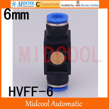 Free shipping HVFF 6 mini hand valve control valve Pneumatic components quick connector plastic plugs