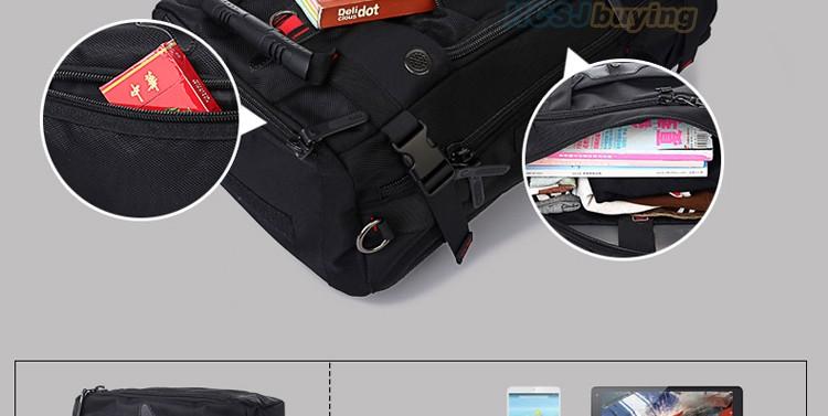 KAKA Men Backpack Travel Bag Large Capacity Versatile Utility Mountaineering Multifunctional Waterproof Backpack Luggage Bag 15