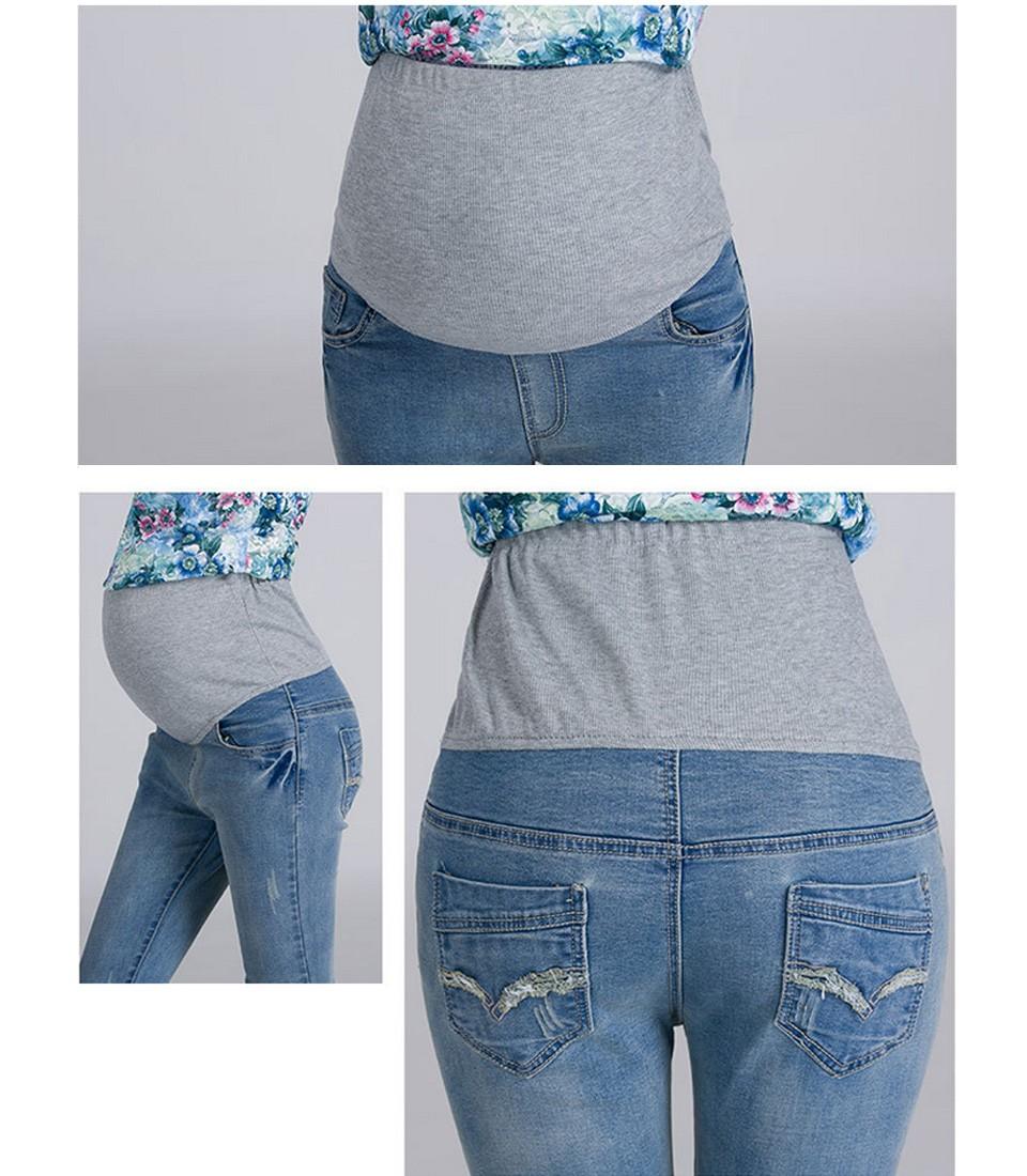 ba1373c2e 2017 Primavera Nuevos pantalones Vaqueros de Maternidad de Alta ...