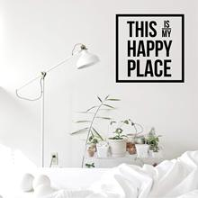 NEW this is my happy place Nursery Wall Stickers Vinyl Art Decals For Living Room Bedroom Sticker Murals