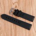 20/22/24/26mm Assista Bracelete Banda Pulseira de Aço Inoxidável Pin Buckle Black Silicone Ao Ar Livre À Prova D' Água Linha de Costura De Borracha azul