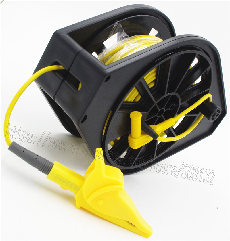 Yellow Cable Reel for GEO Earth Ground Resistance Testing Meter Test Leads For FLUKE 1621 1623