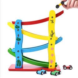 Новизны 4 слоя деревянный раздвижные игрушки автомобиля инерционную слайд автомобиля детские игрушки juguetes образование и обучающие игрушки
